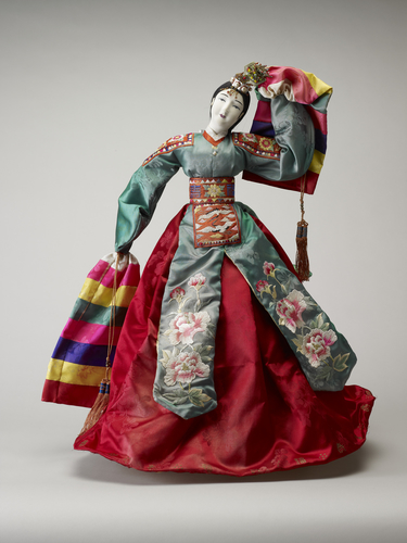 Doll in traditional Korean costume