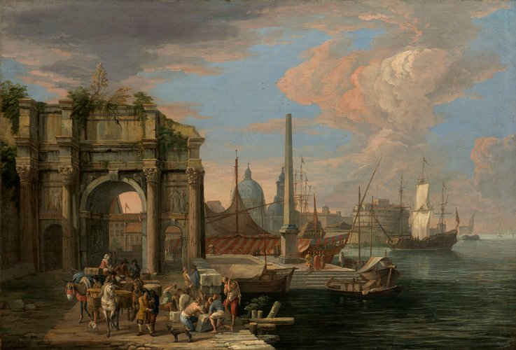 A Caprice View of a Harbour