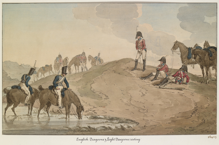 Dragoons and Light Infantry. About 1805