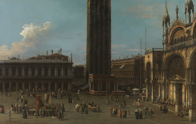 The Piazza from the Piazzetta with the Campanile and the South Side of San Marco