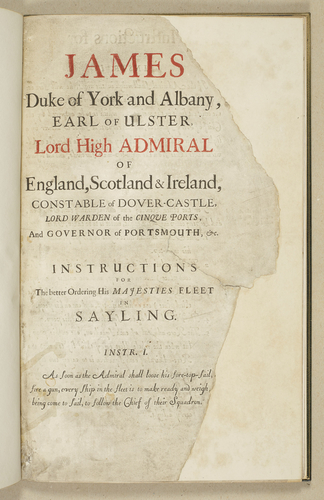 James, Duke of York and Albany . . . : instructions for the better ordering of His Majesties fleet in sayling . .