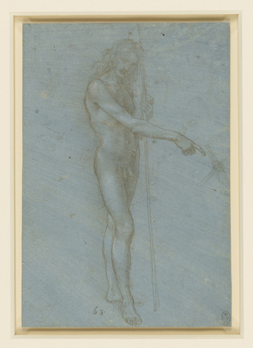 A nude youth as St John the Baptist