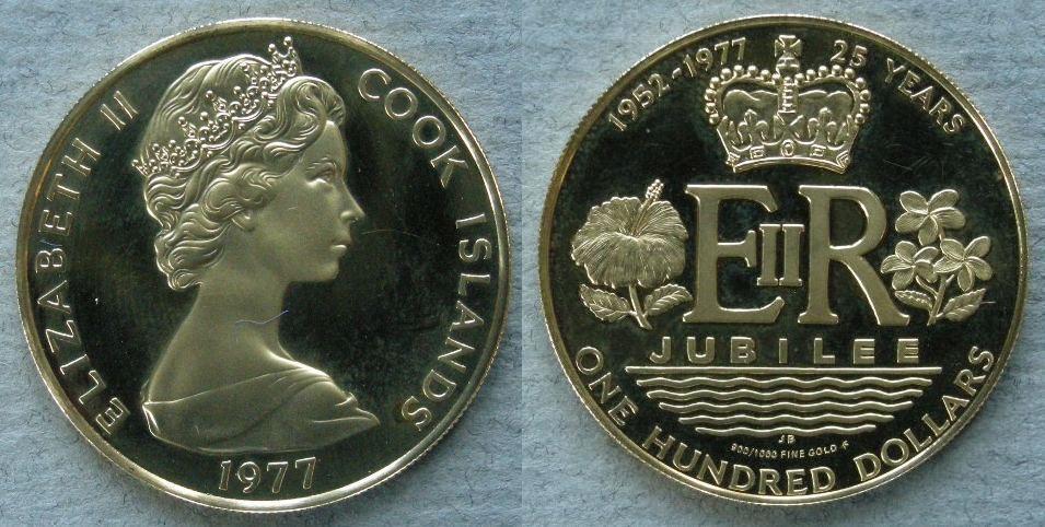 Franklin Mint, Franklin Center, P A  - Cook Islands  Proof 100