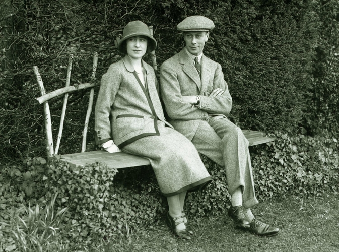 The Duke and Duchess of York at the time of their honeymoon at Polesden Lacy