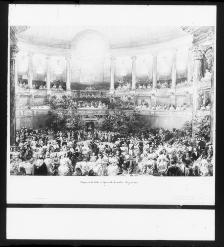 The supper in the Salle de Spectacle, Versailles, 25 August 1855