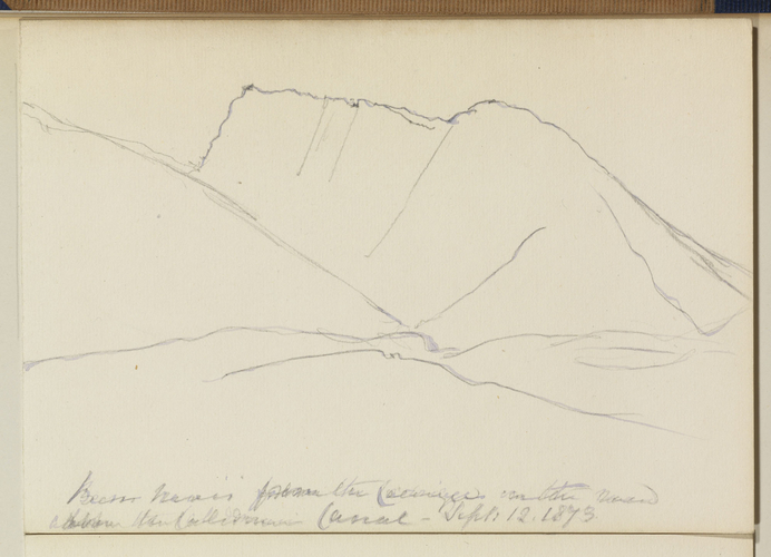 Master: Queen Victoria's Sketches Vol. II (1872-1892) Item: Ben Nevis from the Caledonian Canal & Loch Arkaig