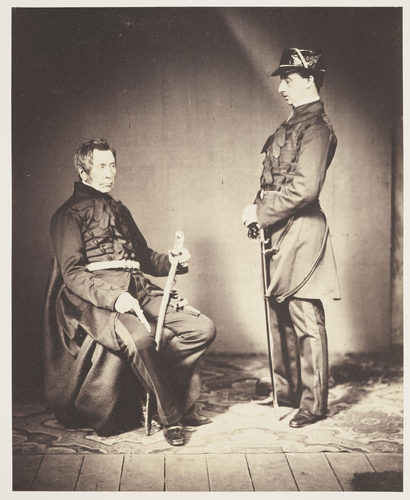 Lieut Gen Sir John Burgoyne and Aide De Camp Lieut Stopford