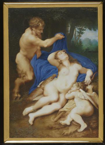 Venus, Cupid and a satyr