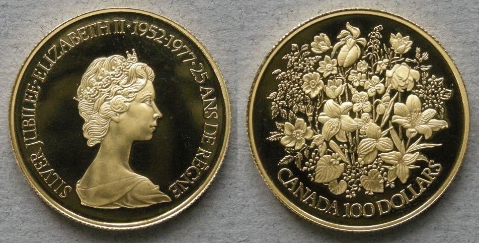 Royal Canadian Mint - Canada  Proof 100 dollars 1977 commemorating