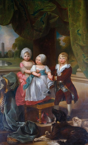 Prince Adolphus, later Duke of Cambridge (1774-1850), with Princess Mary (1776-1857) and Princess Sophia (1777-1848)