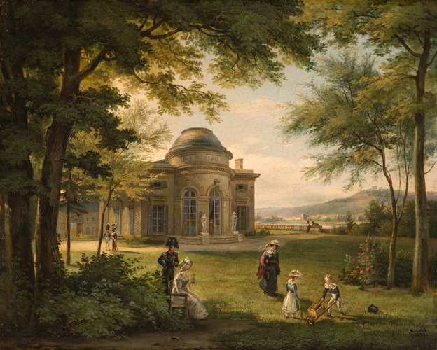 The Family of Charles Ferdinand, Duke of Berry (1778-1820) in the Grounds of the Chateau of Bagatelle
