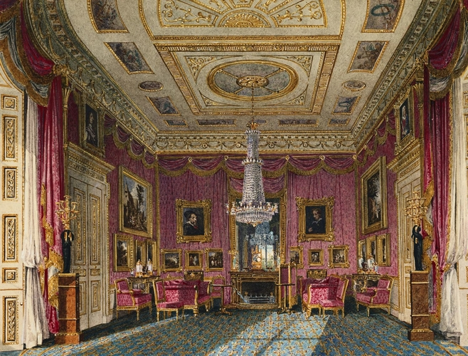 The Rose Satin Drawing Room, Carlton House (looking North)