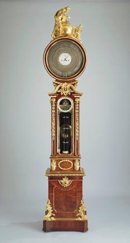 Floor standing clock, barometer and barograph