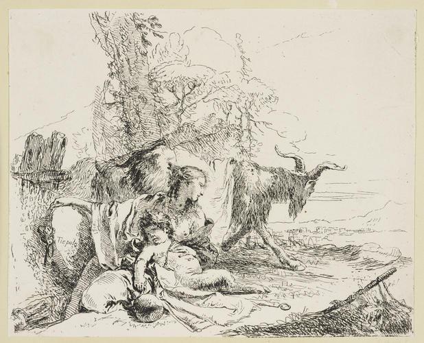 Master: Vari Capricci Item: A woman and satyr from the Vari Capricci