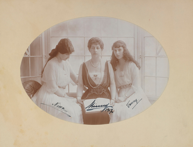 Grand Duchess Maria Georgievna, Princess Nina Georgievna and Princess Xenia Georgievna