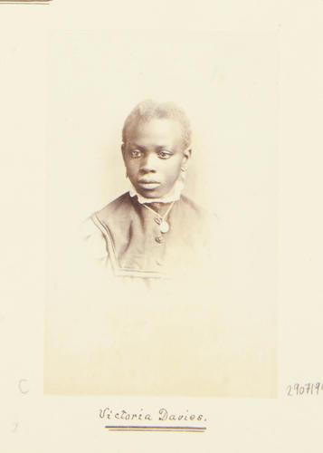 Victoria Davies [Daughter of Sally [Sarah] Bonetta Forbes, Mrs. Davies] [Photographic Portraits Vol. 4/62 1861-1876]
