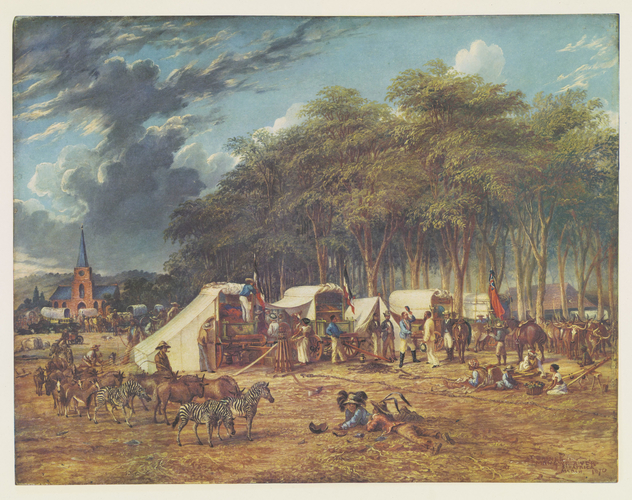 Master: Thomas Baines: his art in Rhodesia Item: Thomas Baines, his art in Rhodesia. Plate VI: The first gold prospecting expedition