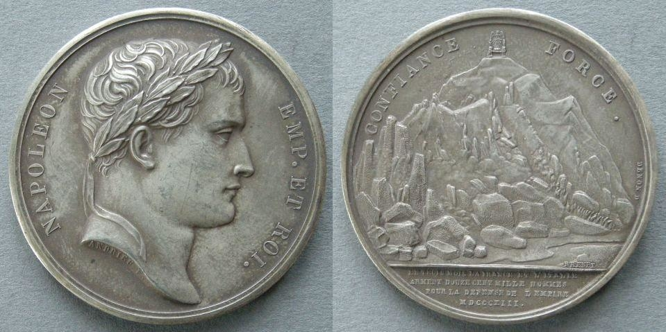 France. Medal commemorating the Monument on Mont-Cenis, 1813