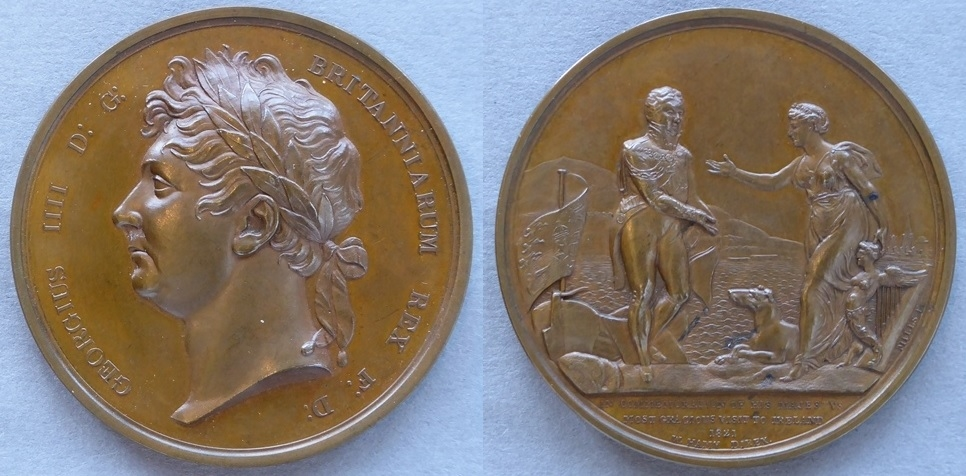 Medal commemorating George IV's visit to Ireland