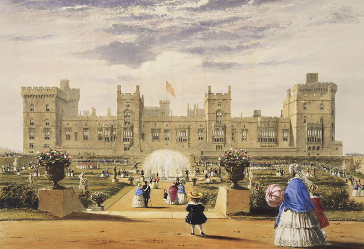 Master: Views of the Interior and Exterior of Windsor Castle.Item: Castle and Terrace Garden