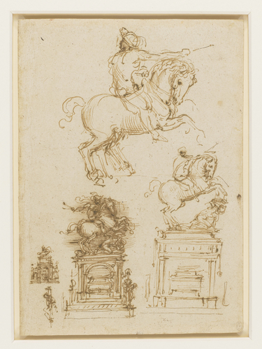 Sketches for the Trivulzio monument