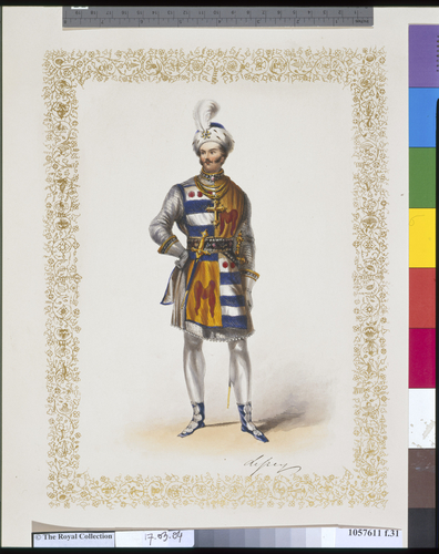 Souvenir of the Bal Costume, given by H. M. Queen Victoria at Buckingham Palace, May 12, 1842 / drawings from the original dresses by Coke Smyth ; letterpress by J. R. Planche