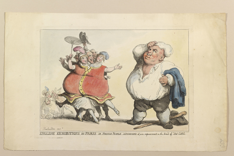 English Exhibitions in Paris, or French People astonished at our improvements in the breed of Fat Cattle