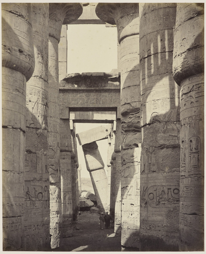 In the Hall of Columns, Karnak [Hypostyle Hall, Temple of Amun, Karnak]