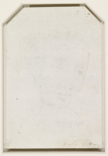 Recto: The head of the Virgin. Verso: The head of a young woman