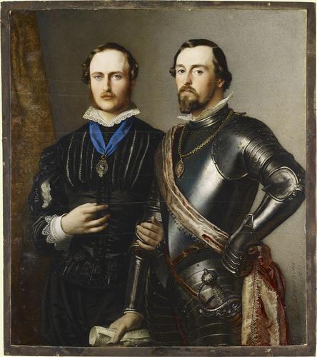 Prince Albert (1819-1861) and Ernest II, Duke of Saxe-Coburg-Gotha (1818-1893)