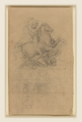 A study for an equestrian monument