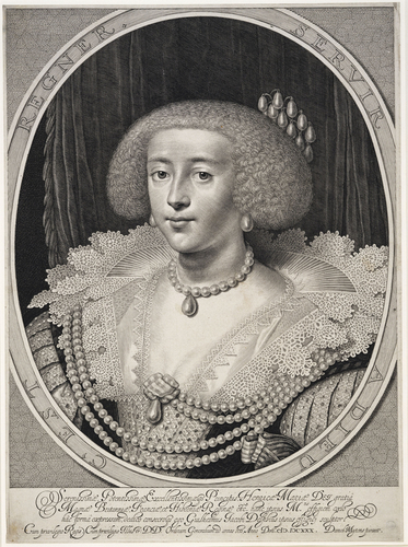Serenissiae Potentissimae, Excellentissimaegs Principis, Henricae Mariae Dei gratia Magna Brittaniae Franciae et Hiberniae Reginae etc