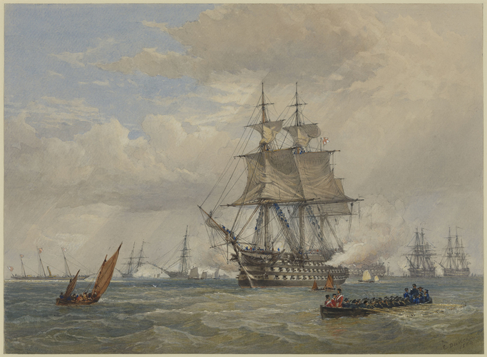 Departure of HMS Neptune for the Baltic Sea, 16 March 1854