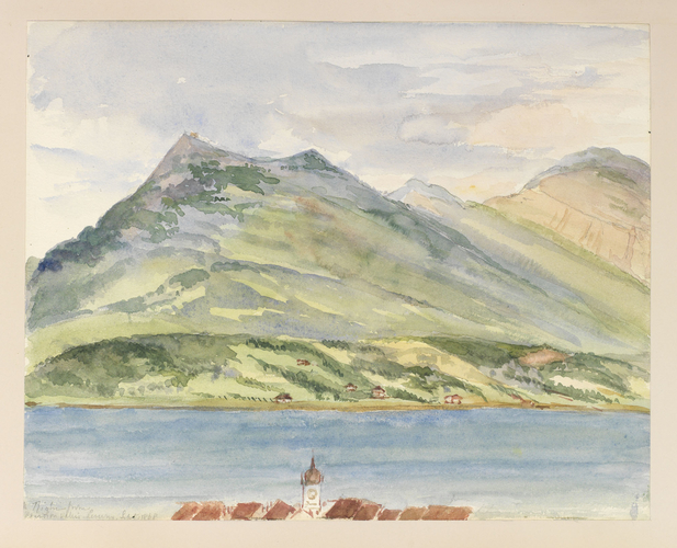Master: Queen Victoria's Sketches Vol I. (1866-1872) Item: [Rigi] from Pension Wallis - Lucerne