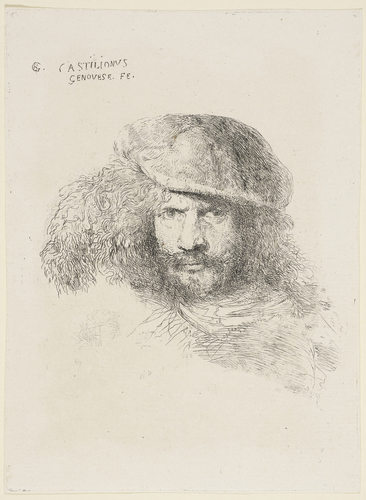 Master: Studies of Heads of Men in Oriental Head-dresses (large) Item: A presumed self-portrait