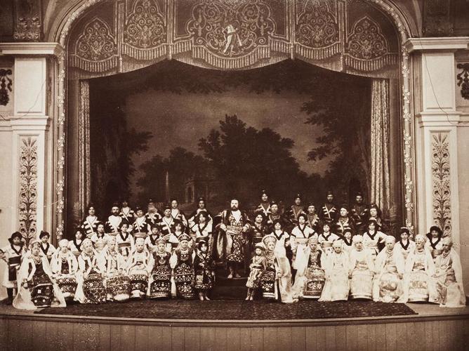 Dmitri Slaviansky D'Agreneff's celebrated Russian Choir, July 1885. [Album: Photographic Portraits vol. 5/63 1875-1889]