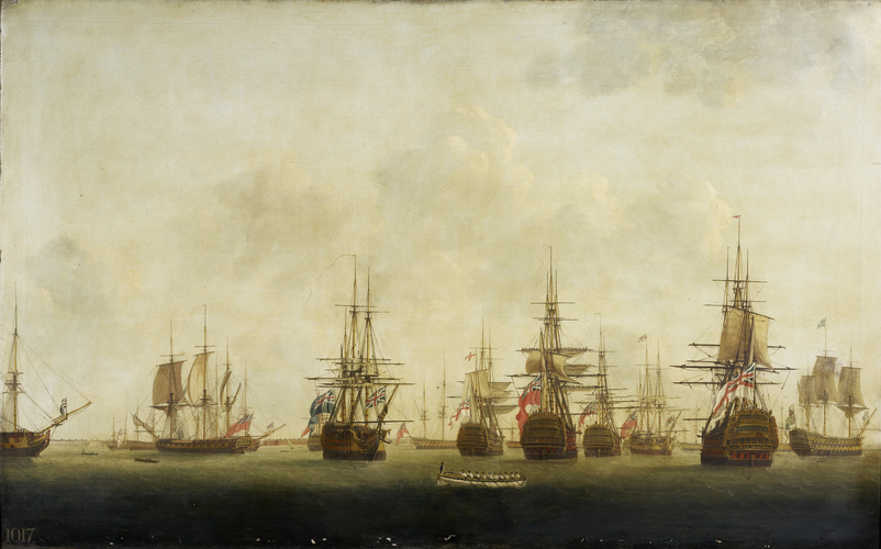 A View of Part of the British fleet at Spithead