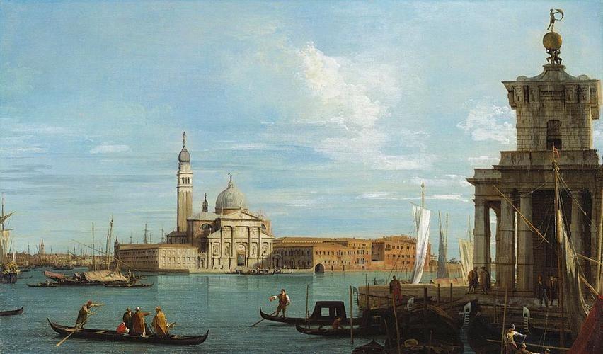 Venice: The Punta della Dogana and S. Giorgio Maggiore