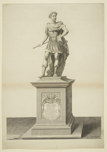 A statue of Charles II in Roman dress