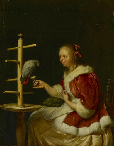A Lady with her Parrot