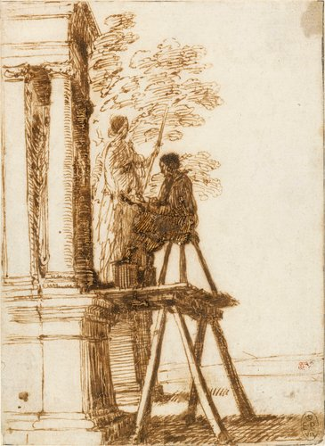 An artist drawing