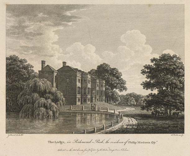 The Lodge in Richmond Park, the residence of Philip Meadows