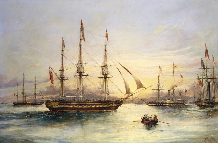 The Royal Yacht, The Royal George, off the coast of Berwick