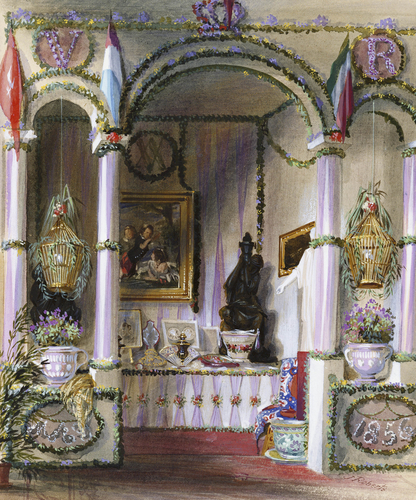 The Queen's Birthday Table at Osborne, 24 May 1856
