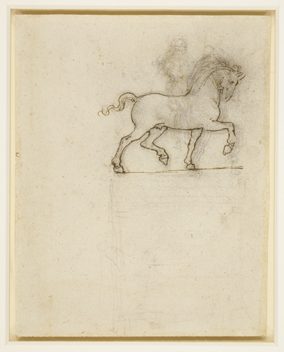 Recto: A study for an equestrian monument. Verso: A study for an equestrian monument