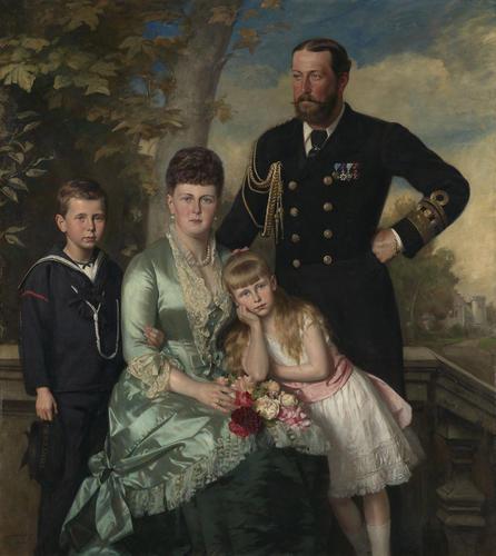 Alfred, Duke of Edinburgh, with his family