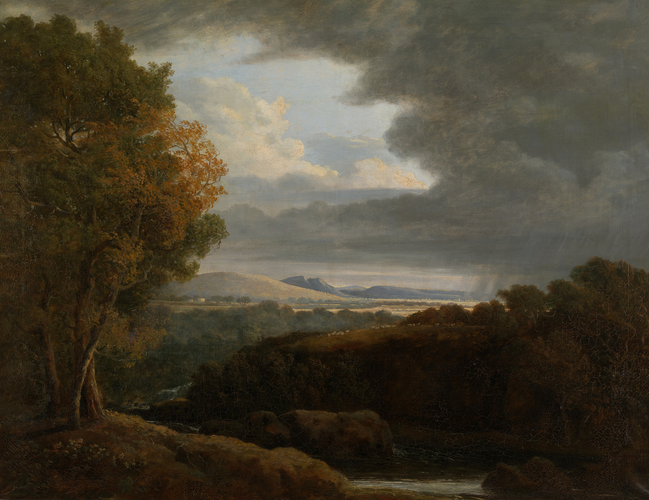 Landscape with a Distant Country House