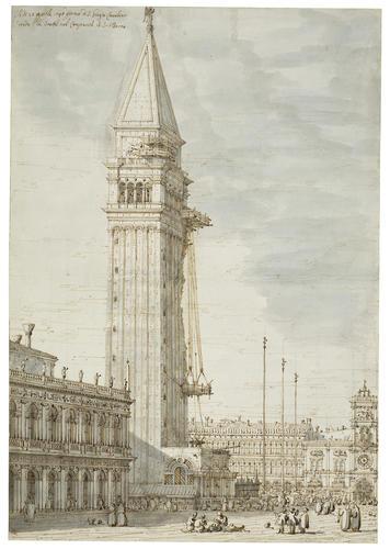 Venice: The Campanile under repair