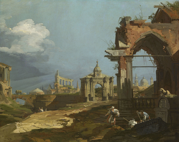 A Capriccio View with a Pointed Arch