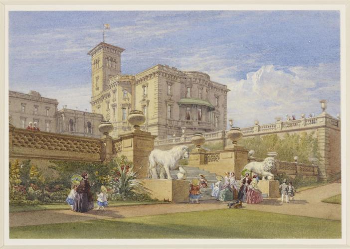 Osborne House from below the terrace